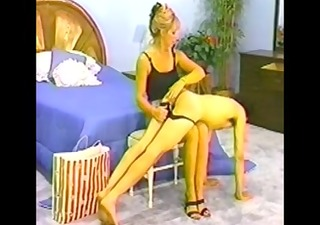boy-friend spanked in panties by super hawt