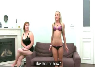 hot lesbians sucking penis on couch