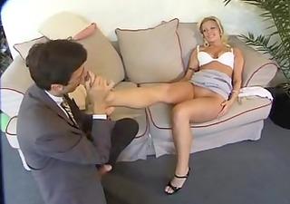 fuckings her gazoo and stockings