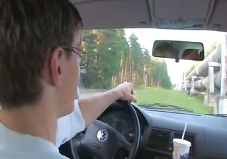 sex with my breasty schoolgirl in the car