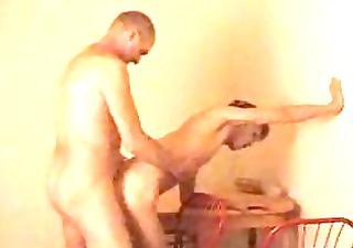 aged homosexual hunk bangs his youthful partner